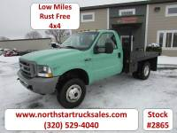 Used 2003 Ford F-350 4x4 Reg Cab Flatbed Truck