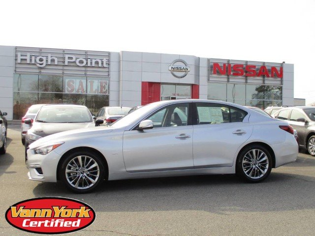 Photo Used 2019 INFINITI Q50 3.0t LUXE Sedan For Sale in High-Point, NC near Greensboro and Winston Salem, NC
