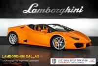 Used 2017 Lamborghini Huracan LP580-2 Spyder For Sale Richardson,TX | Stock# 20L0253A VIN: ZHWUR2ZF5HLA07282