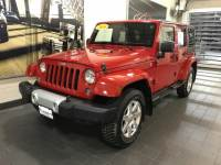 2014 Used Jeep Wrangler Unlimited 4WD 4dr Sahara in Flame Red Clearcoat For Sale in Moline IL | S20278B
