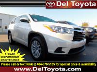 Certified Pre-Owned 2016 Toyota Highlander For Sale in Thorndale, PA | Near Malvern, Coatesville, West Chester & Downingtown, PA | VIN:5TDBKRFH6GS347098