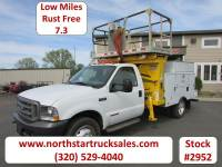 Used 2002 Ford F-550 7.3 4x2 Aerial Lift Platform Utility Truck