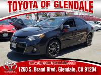 Used 2016 Toyota Corolla S PLUS For Sale | Glendale CA | Serving Los Angeles | 5YFBURHEXGP492635