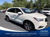 Pre-Owned 2019 Acura MDX 3.5L in Richmond VA