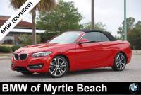 Certified Used 2017 BMW 230i Convertible For Sale in Myrtle Beach, South Carolina