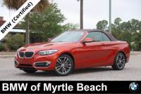 Certified Used 2018 BMW 230i Convertible For Sale in Myrtle Beach, South Carolina