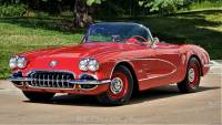 1959 Chevrolet Corvette Excellent Restoration Red on Red 2 tops