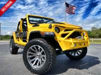 Used 2019 Jeep Wrangler Unlimited HELLAYELLA CUSTOM LIFTED SAHARA LEATHER NAV