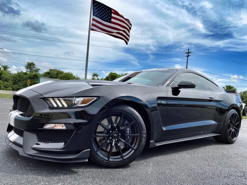 Photo Used 2017 Ford Mustang SHELBY GT350 CARFAX CERT 1 OWNER SHADOW BLACK
