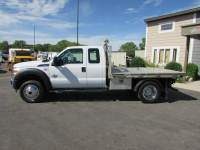 Used 2012 Ford F-550 6.7 4x4 Ext-Cab Flatbed Truck