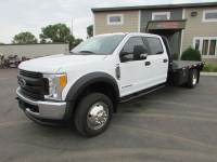 Used 2017 Ford F-550 4x4 Crew-Cab Flatbed