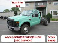Used 2009 Ford F-350 4x4 Reg Cab Manual Trans Cab Chassis