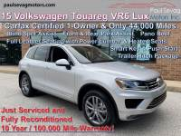 Used 2015 Volkswagen Touareg VR6 Lux 4MOTION For Sale at Paul Sevag Motors, Inc. | VIN: WVGEF9BP5FD003296