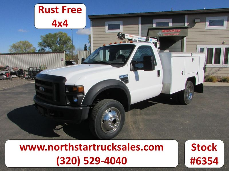 Photo Used 2008 Ford F-550 4x4 with 3203 Auto-Crane Utility Truck