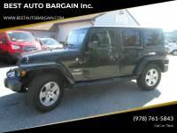 2011 Jeep Wrangler Unlimited 4x4 Sahara 4dr SUV