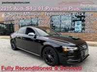 2015 Audi S4 AWD 3.0T quattro Premium Plus 4dr Sedan 6M