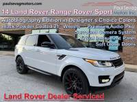 Used 2014 Land Rover Range Rover Sport Autobiography For Sale at Paul Sevag Motors, Inc. | VIN: SALWV2TF0EA354408