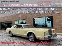 Used 1978 Lincoln Continental Mark V Coupe For Sale at Paul Sevag Motors, Inc. | VIN: 8Y89A835210000000