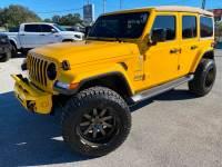 Used 2019 Jeep Wrangler Unlimited HELLAYELLA TURBO SAHARA LEATHER BLACK RHINOs
