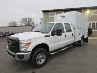 Used 2015 Ford F-350 4x4 Crew-Cab Enclosed Utility Box