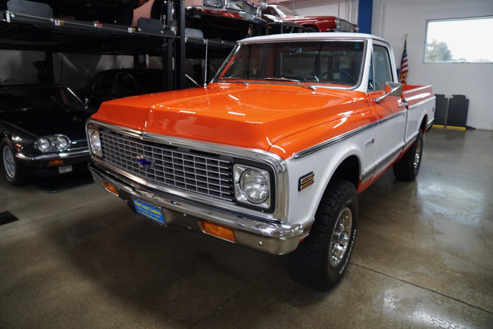 Photo 1972 Chevrolet C10 4X4 Full Size Fleetside Short Bed Cheyenne Pick Up