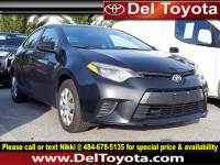 Used 2016 Toyota Corolla LE For Sale in Thorndale, PA | Near West Chester, Malvern, Coatesville, & Downingtown, PA | VIN: 2T1BURHE5GC481929