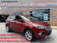 Used 2018 Ford Escape SEL 4WD For Sale at Paul Sevag Motors, Inc. | VIN: 1FMCU9HD1JUD15232