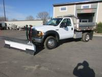 Used 2007 Ford F-450 4x4 Stainless Dump W/Blizzard Plow