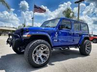 Used 2020 Jeep Wrangler Unlimited CUSTOM LIFTED LEATHER NAV TURBO SAHARA OCD4X4.COM