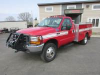 Used 2000 Ford F-550 4x4 Reg Cab Fire Rig/Utility Truck