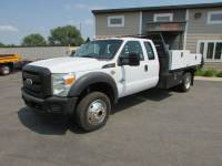 Used 2011 Ford F-450 4x4 Ext-Cab Flat-Bed Truck