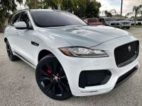 Used 2018 Jaguar F-PACE S SUPERCHARGED AWD PANO ROOF WHITE/RED LEATHER