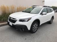 Crystal White Pearl Used 2020 Subaru Outback Premium CVT For Sale in Moline IL | S211356A